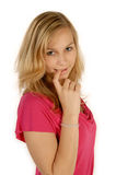 Girl looks innocent Royalty Free Stock Photography
