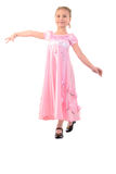Girl Looks Like A  Princess In  Pink. Stock Images