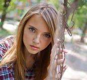 Girl looks Royalty Free Stock Photo