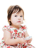 Girl looks worried Stock Images