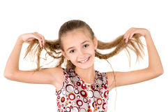 The girl with the loose hair Royalty Free Stock Photography