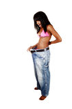 Girl loosed weight. Stock Photos