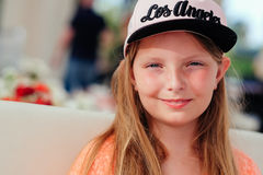 Girl with Los Angeles cap Stock Photos