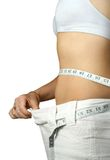 Girl loss weight Stock Image