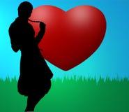 Girl in love Stock Image