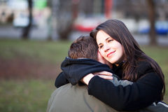Girl in love Stock Images