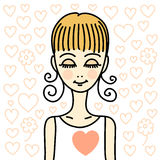 Girl in love Royalty Free Stock Photo