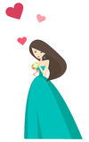 Girl love heart Royalty Free Stock Images