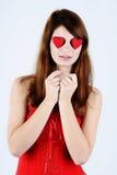 Girl in love Stock Photos