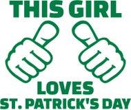 This girl loves St. Patricks day - T-Shirt design. Vector royalty free illustration