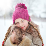Girl loves wintertime Stock Images