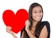 Girl loving a heart Royalty Free Stock Photos