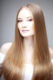Girl with luxurious hair Stock Photo