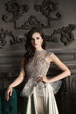 Girl in Luxury Evening Gown Royalty Free Stock Image