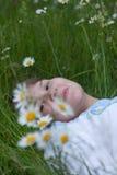 Girl lying Stock Photos