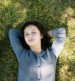Girl lying Royalty Free Stock Images