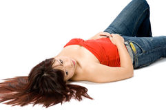 Girl Lying Down Royalty Free Stock Image