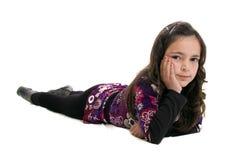 Girl lying down Stock Photos