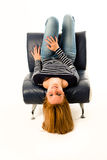 Girl lying face down Royalty Free Stock Photo