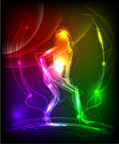 Girl made of light  neon collection Stock Image