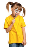 Girl with magic wand Royalty Free Stock Image