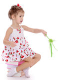 Girl with a magic wand Royalty Free Stock Photos
