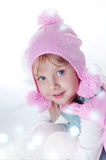 Girl and magic winter Royalty Free Stock Image