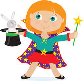 Girl Magician Royalty Free Stock Images