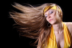 Girl with magnificent hair Stock Photography