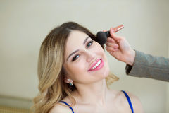 Girl on make-up Royalty Free Stock Photo