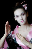 The girl with make-up of Japanese Royalty Free Stock Photo