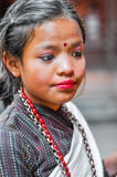 Girl with make-up in Nepal Stock Image
