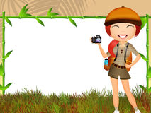Girl makes safari Royalty Free Stock Photo