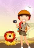 Girl makes safari Stock Photography