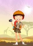 Girl makes safari Royalty Free Stock Photography