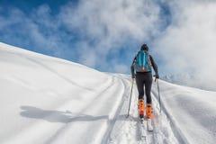 A girl makes ski Stock Photos