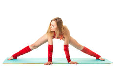 Girl makes splits Stock Photography