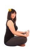 Girl makes yoga Royalty Free Stock Image