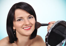 Girl makeup Royalty Free Stock Images