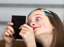 Girl with makeup Royalty Free Stock Photos