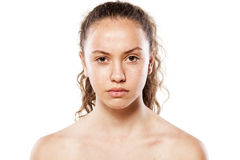 Girl without makeup Royalty Free Stock Photography