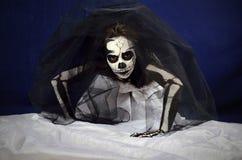 Girl makeup skeleton Royalty Free Stock Photography