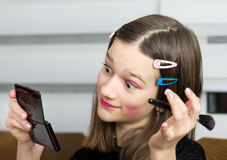 Girl with makeup Royalty Free Stock Image