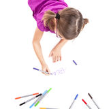 Girl making drawings Stock Photos