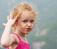 A Girl Making a Face Stock Photo
