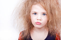 Girl making funny face Royalty Free Stock Image
