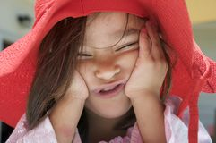 Girl making funny face Royalty Free Stock Photos