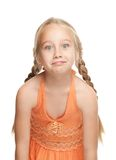 Girl making funny face. Little girl making funny face Stock Photos