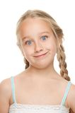 Girl making funny face. Little girl making funny face Royalty Free Stock Images