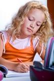 Girl making homework Royalty Free Stock Photos